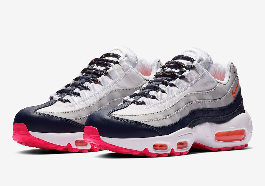 Nike Wmns Air Max 95 Midnight Navy Laser Orange