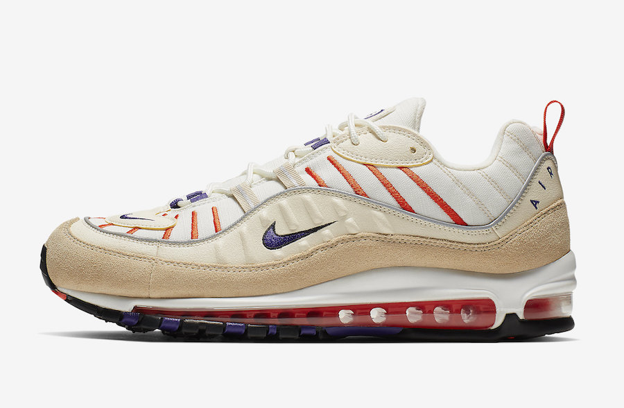 Nike Air Max 98 Sail Court Purple 640744-108 Release Date