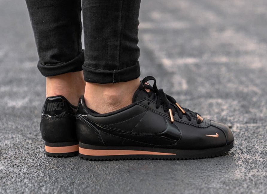 best quality new authentic preview of Nike Cortez Black Rose Gold 905614-010 Release Date ...