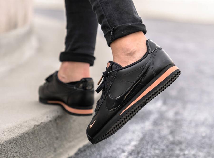 6e53c1d24a2ec Nike Cortez Black Rose Gold 905614-010 Release Date | SneakerFiles