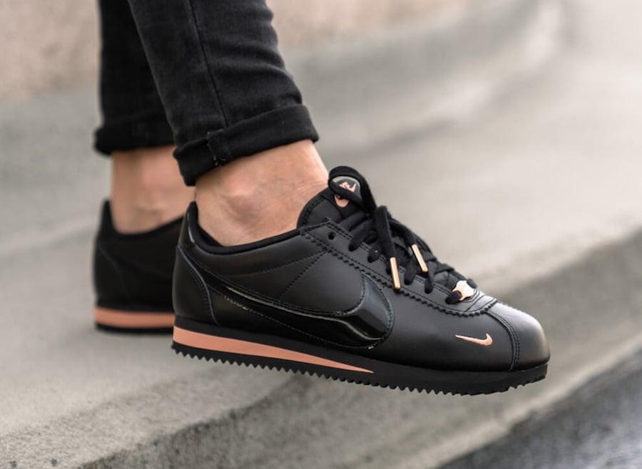 timeless design 76510 42589 Nike Cortez Black Rose Gold 905614-010 Release Date