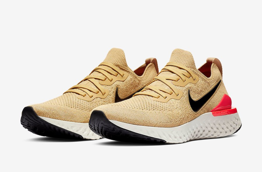 Nike Epic React Flyknit 2 Club Gold BQ8928-700 Release Date