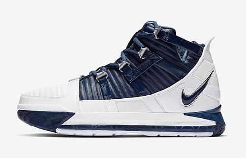 Nike LeBron 3 White Navy