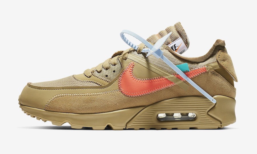 Nike Off-White Air Max 90 Desert Ore AA7293-200 Release Date Price