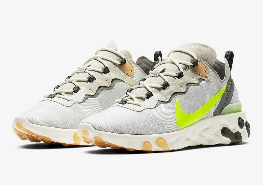 finest selection 0716d 0666d Nike React Element 55 BQ6166-009 Release Date