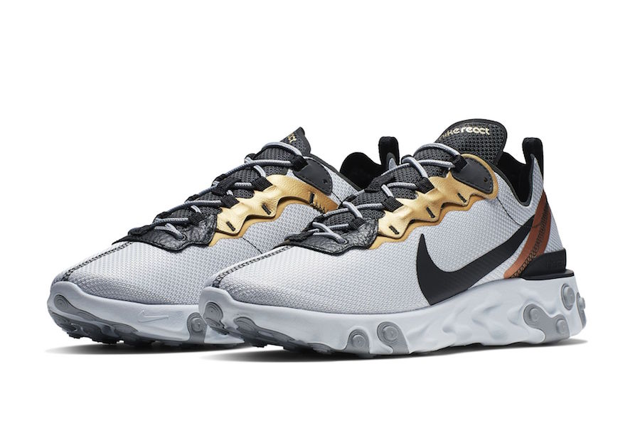 best sneakers fa45f d5835 Nike React Element 55 Metallic Gold Release Date