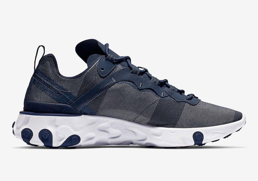 Nike React Element 55 Midnight Navy BQ6166-401 Release Date