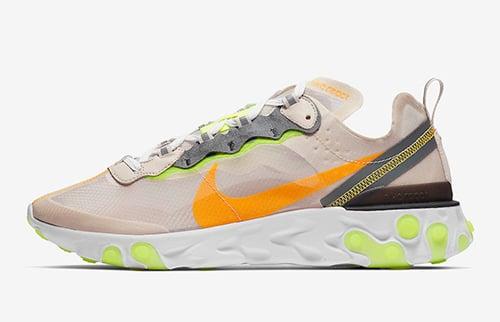 Nike React Element 87 Light Orewood Brown