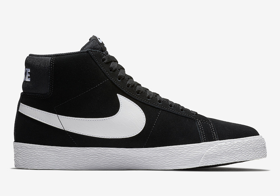 Nike SB Blazer Mid Black White 864349-002