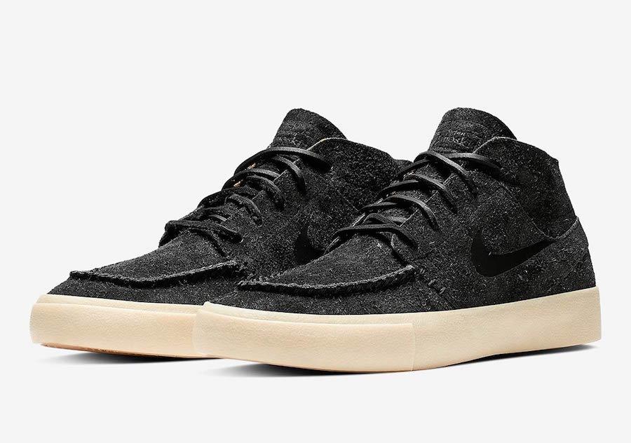 Nike SB Zoom Janoski Mid Crafted Shoes (black black)