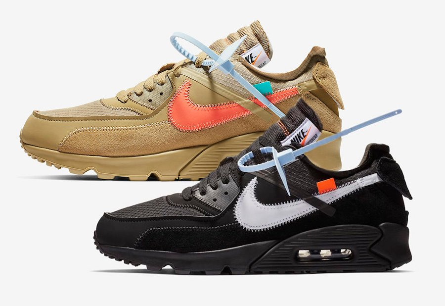 huge discount 92d50 46f0c Off-White Nike Air Max 90 Desert Ore Black Release Date ...