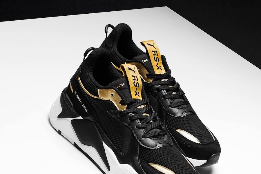 Puma Rs X Trophy Black Gold Release Info Sneakerfiles