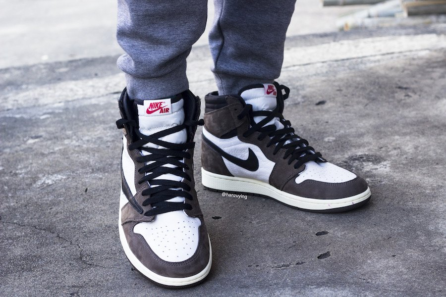 Travis Scott Air Jordan 1 High OG On Feet