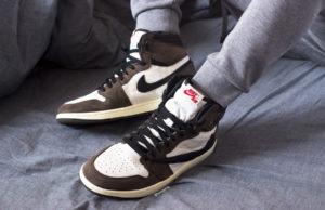 Travis Scott Air Jordan 1 High OG On Feet