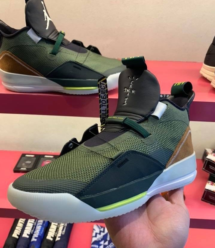 Travis Scott Air Jordan 33 NRG Army Olive Cactus Jack CD5965-300