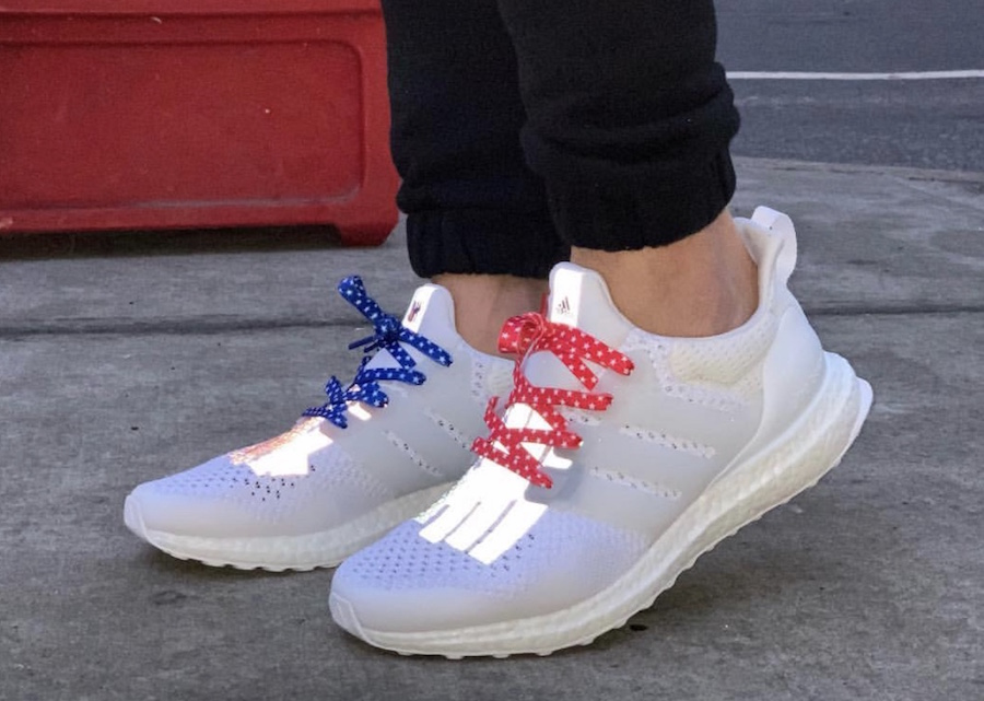 Undefeated adidas Ultra Boost USA 2019 On Feet