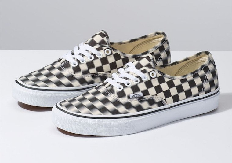 Vans Blur Check Authentic Black White