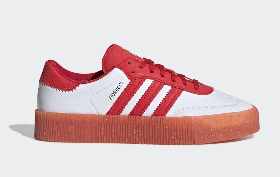adidas Fiorucci SAMBAROSE Red G28913 Release Date
