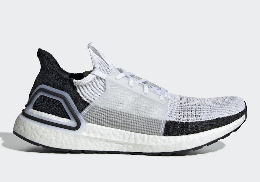 adidas Ultra Boost 2019 White Black B37707