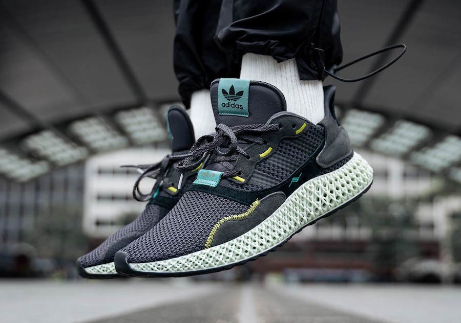 adidas ZX 4000 4D Carbon On Feet