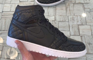 Air Jordan 1 All-Star 2019 Friends and Family Black Quilted Leather