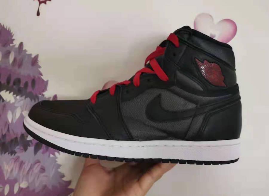 Air Jordan 1 Black Metallic Silver Gym Red 555088-060 Release Date Info