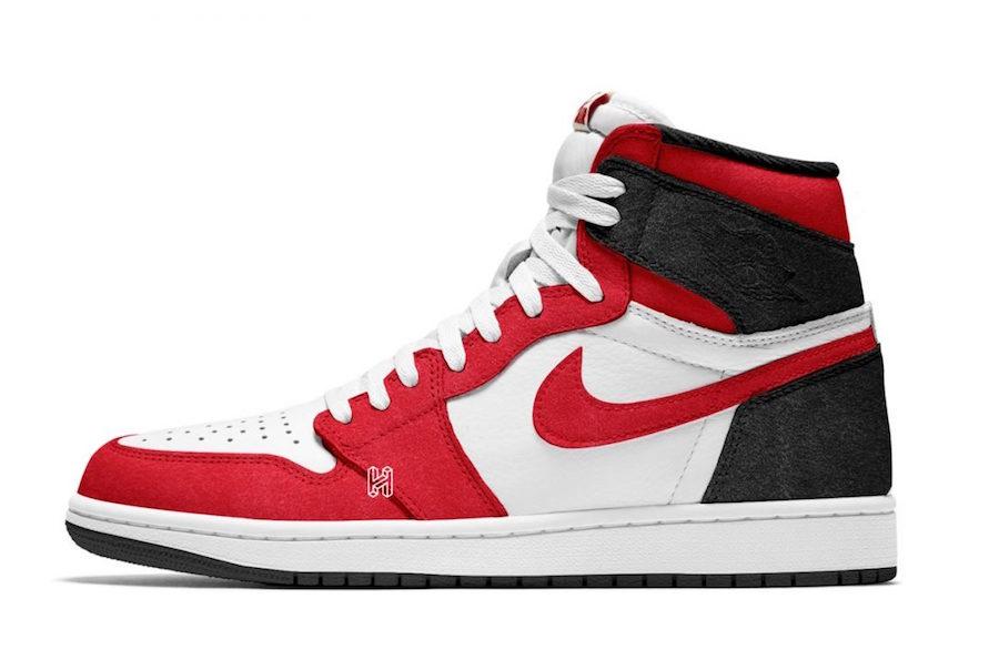 Air Jordan 1 Black White Gym Red 555088-062 Release Date