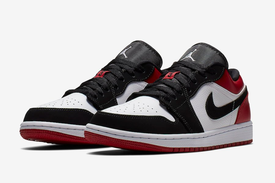 Air Jordan 1 Low Black Toe 553558-116 Release Date