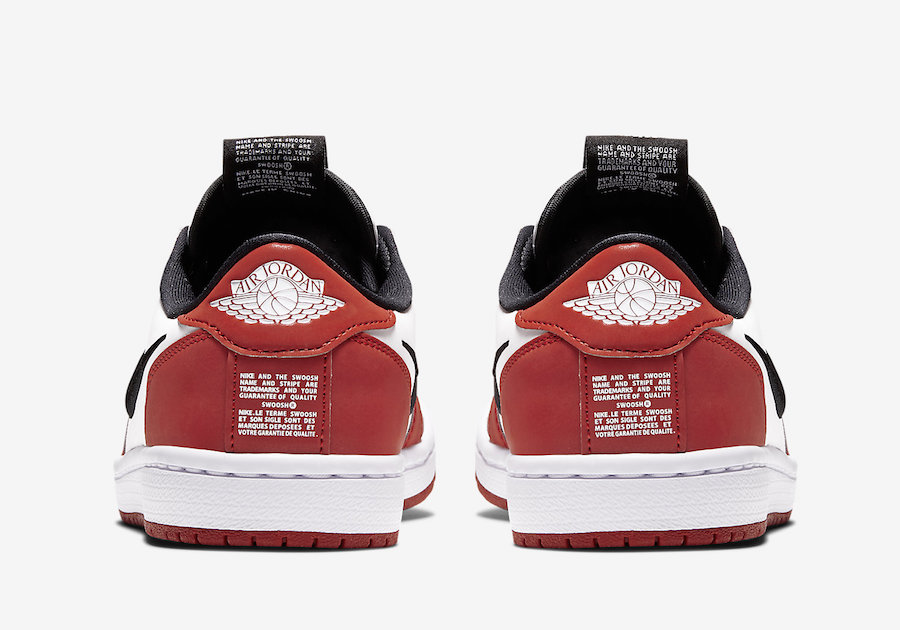 Air Jordan 1 Low Slip Chicago BQ8462-601 Release Date