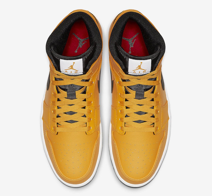 Air Jordan 1 Mid Taxi Yellow 554724-700 Release Date