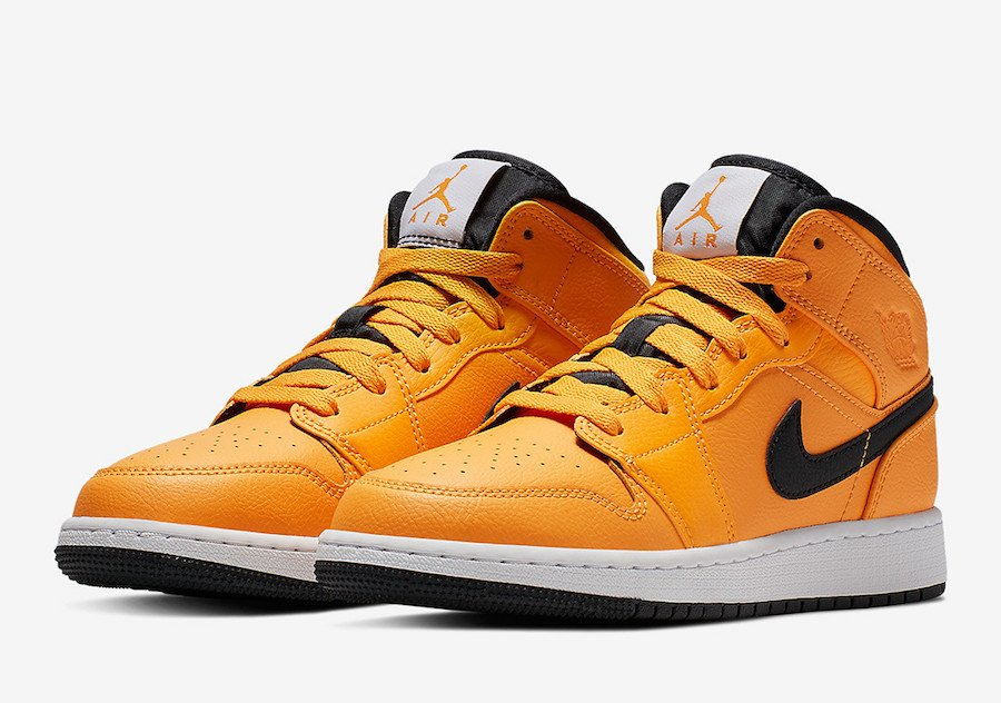 Air Jordan 1 Mid Taxi Yellow Black White 554724-700 Release Date
