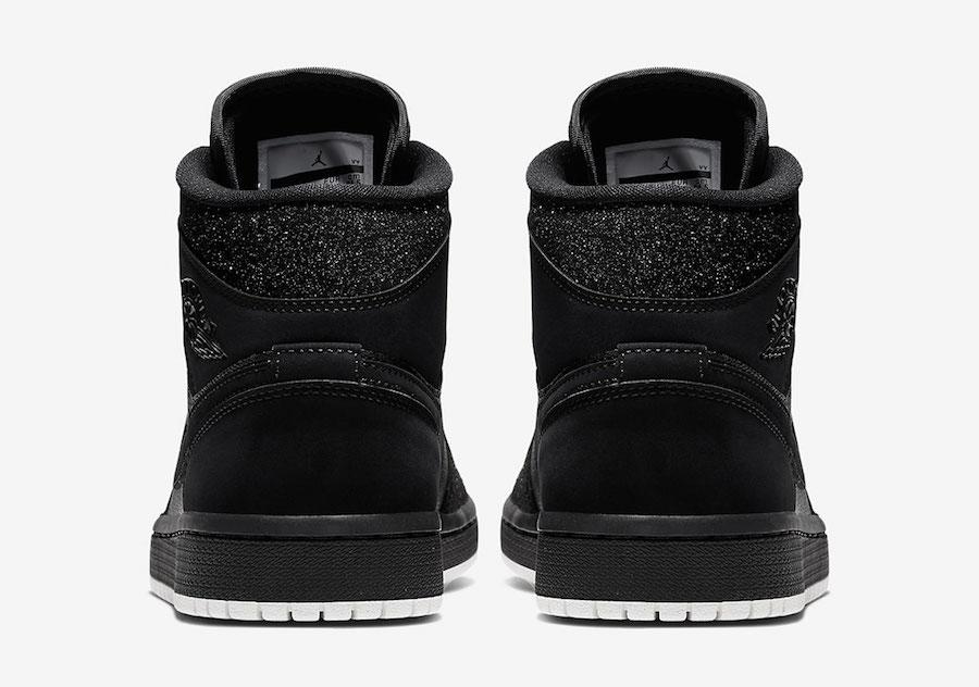 Air Jordan 1 Mid WMNS Glitter Black White BQ6472-001 Release Date