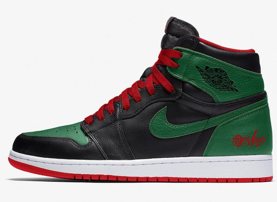 Air Jordan 1 Pine Green Gym Red 555088-030 Release Date