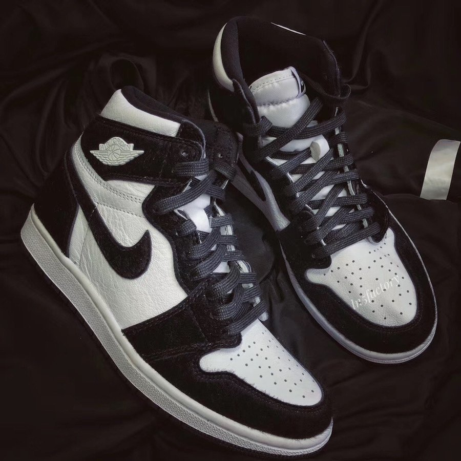 Air Jordan 1 Retro High OG Womens Black White Panda 2019 CD0461-007 Release Date