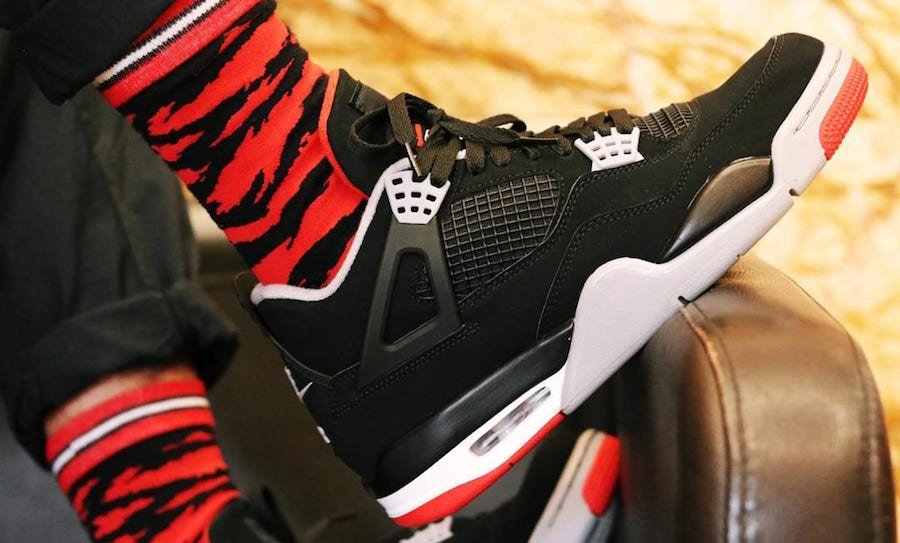 Air Jordan 4 Bred Black Cement 308497-060 2019 Release Date