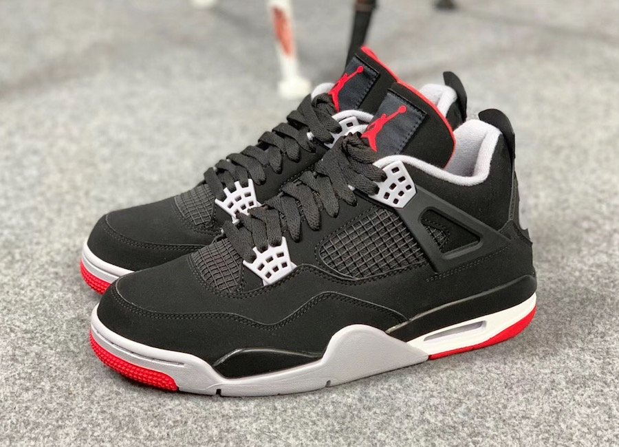 Air Jordan 4 Bred Black Cement Grey Fire Red 308497-060 Release Date Price