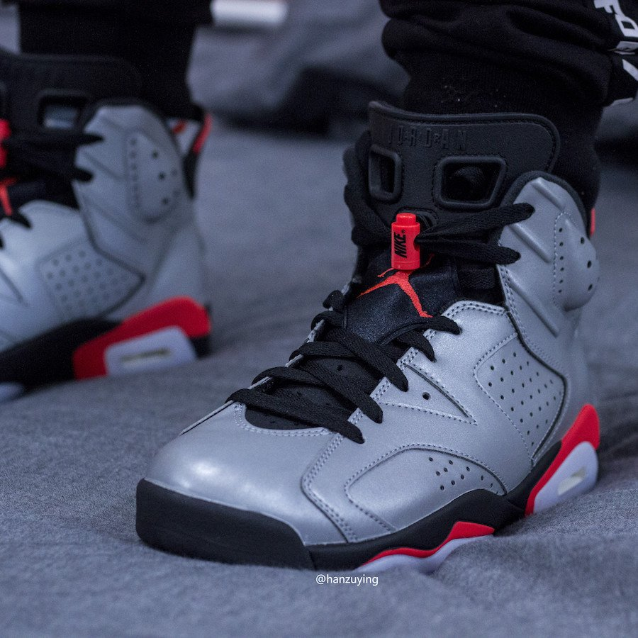 best website most popular 100% authentic Air Jordan 6 3M Reflective Infrared CI4072-001 Release Date ...