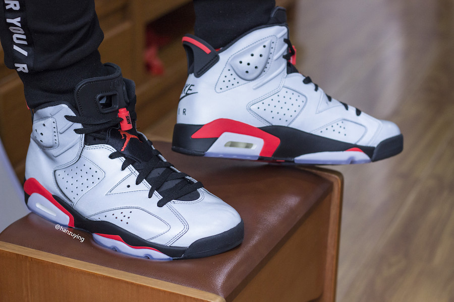 Air Jordan 6 Reflect Silver Infrared CI4072-001 Release Date On Feet