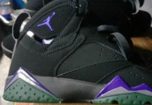 Air Jordan 7 Bucks Black Purple Green 304775-053 Release Date