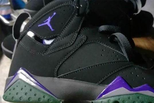 Air Jordan 7 Bucks Black Purple Green 304775-053 Release Date