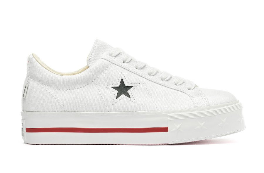 Converse One Star Platform Ox White Obsidian