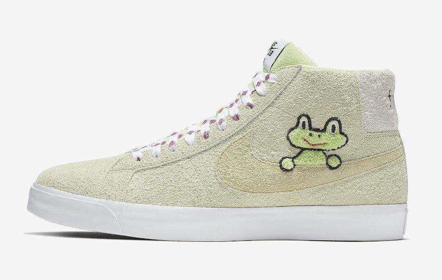 Frog Skateboards Nike SB Blazer Mid AH6158-300 Release Date