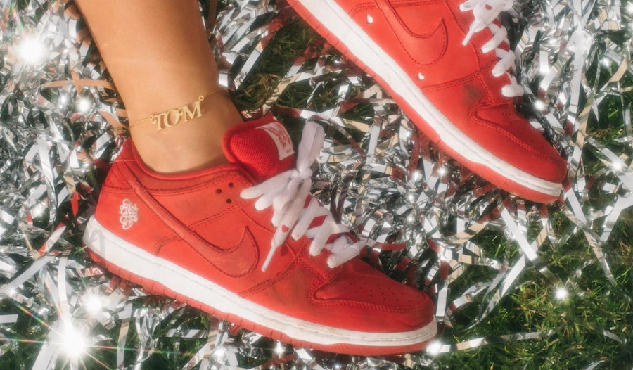 Girls Dont Cry Nike SB Dunk Low Red