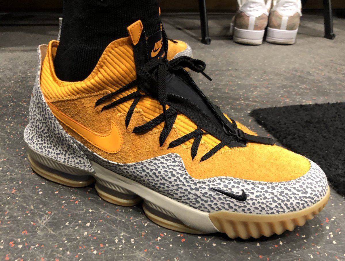 LeBron James Nike LeBron 16 Low Safari