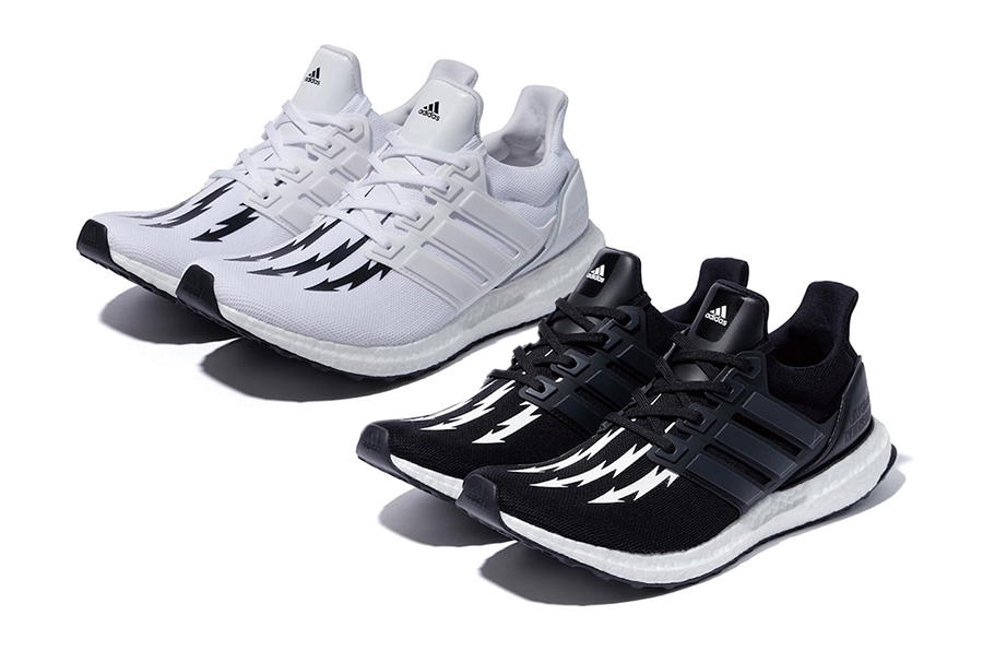 Neighborhood adidas Ultra Boost Thunderbolt White Black