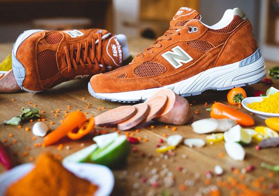New Balance M991 Orange Suede Release Date