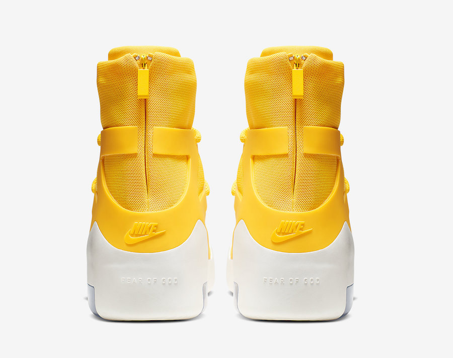 Nike Air Fear of God 1 Yellow Amarillo AR4237-700 Release Date Info