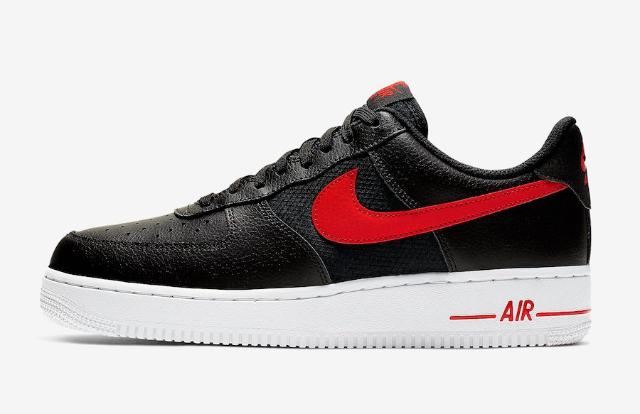 Nike Air Force 1 Low Black University Red CD1516-001 Release Date