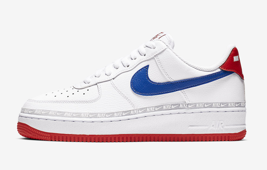 Nike Air Force 1 Low White Red Blue CD7339-100 Release Date