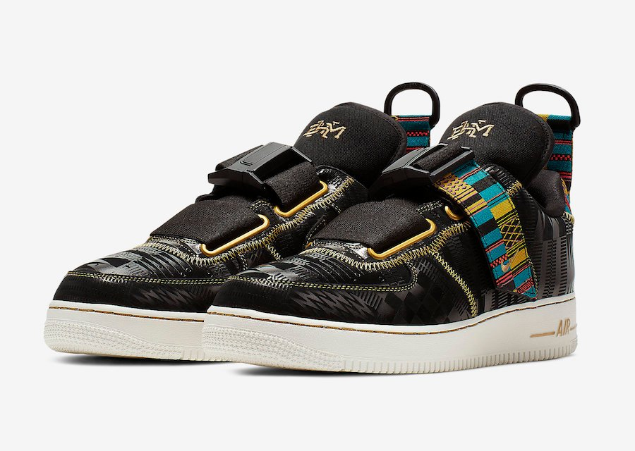 Nike Air Force 1 Utility BHM Black History Month BV7783 001